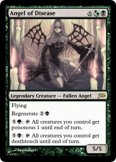 Angel of Disease Magic Card by deathangel20