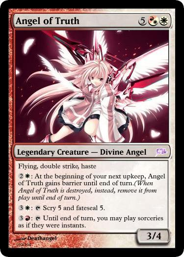 Angel of Truth Magic Card by deathangel20
