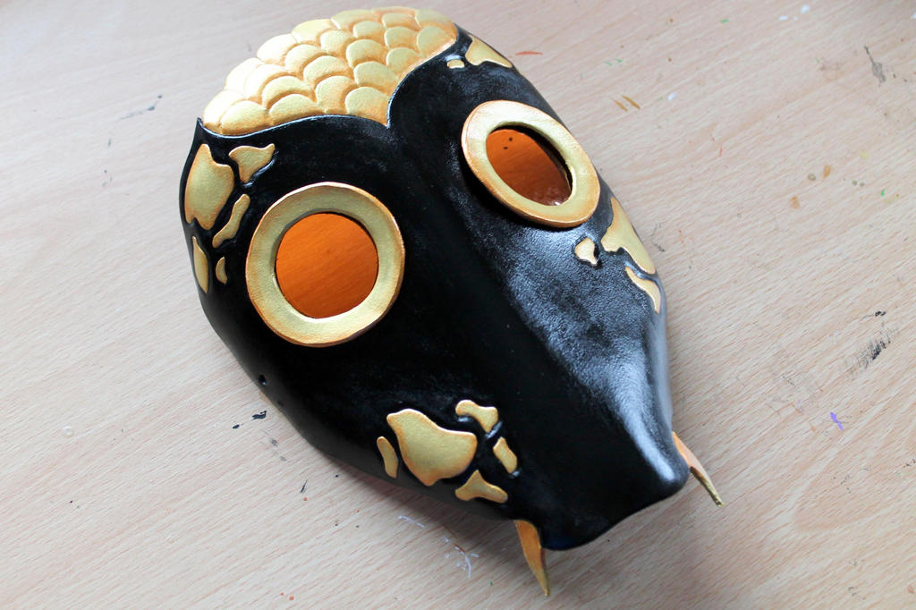 Black and gold koi fish leather mask by masktastic on for Black and gold koi fish