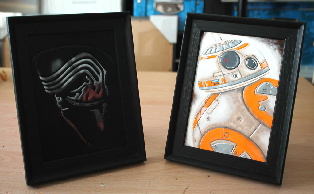 Star Wars leather pictures - Kylo Ren and BB-8 by ShadowFoxLeatherwork