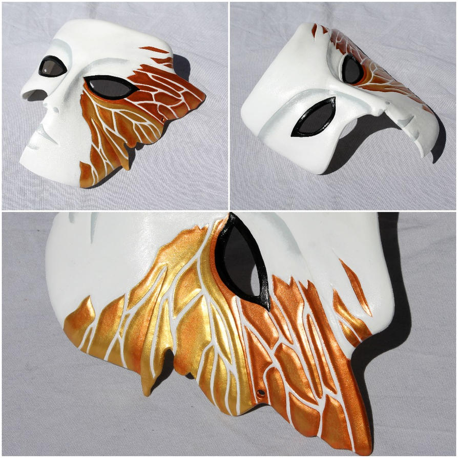 Philemon mask from Persona 2 by ShadowFoxLeatherwork