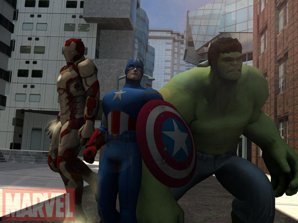 Avengers 3d models by reddoggx on deviantart for Deviantart 3d models