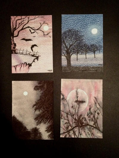 Halloween ACEO's by SoulCanvas