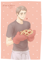 Ned and his pie by seirenity