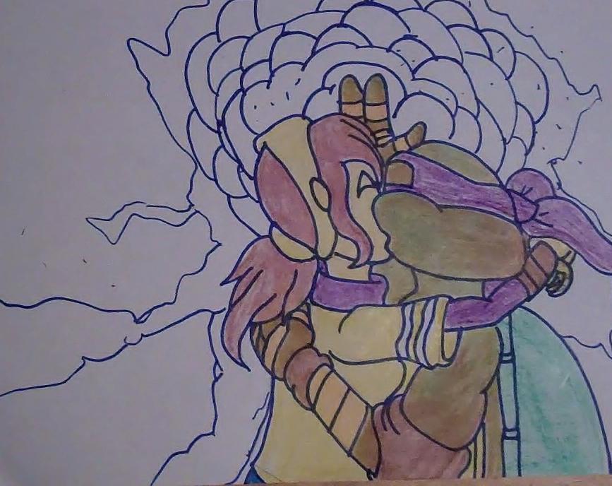 Teenage mutant ninja turtles april and donatello kiss - photo#5