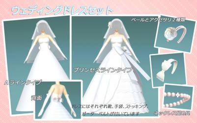 Wedding Dress MMD DL