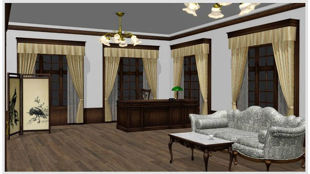 Executive Room 2 MMD Stage DL by mmdspot