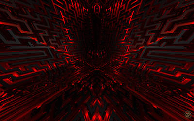 Black And Red Maze 1 - Wide