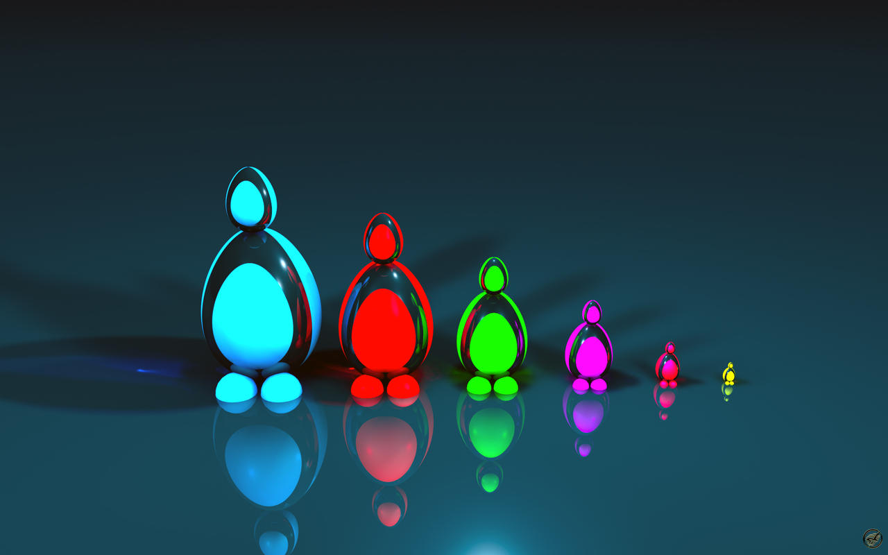 Futuristic Baboshka Penguins by Ingostan