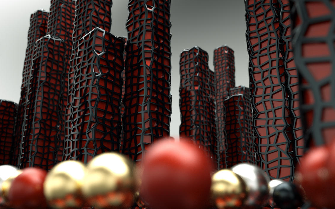Towers and spheres 1 - Octane by Ingostan