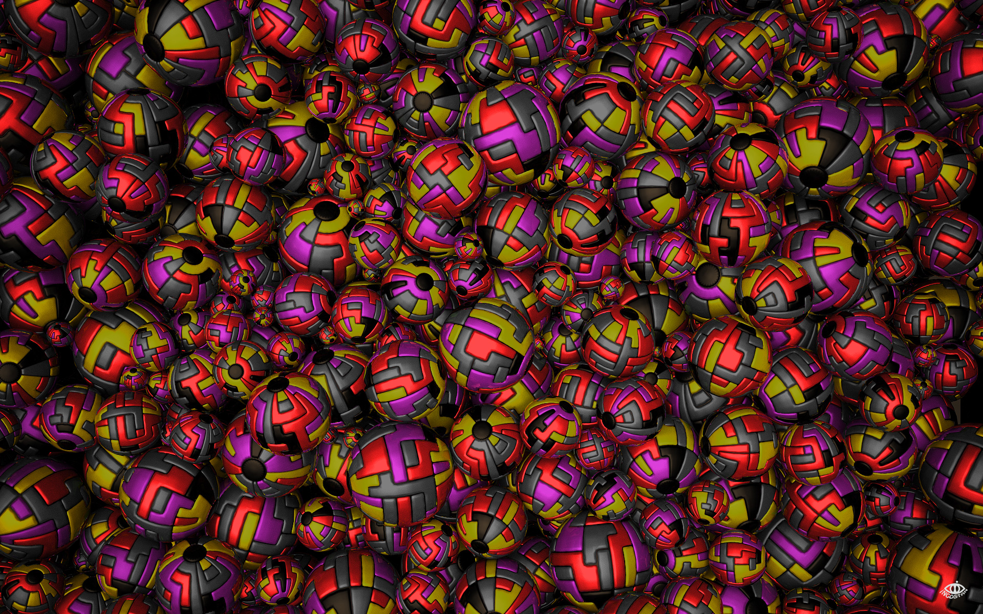 Eyeburning Spheres 1 by Ingostan