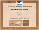 I have a mars crater named after me :-)