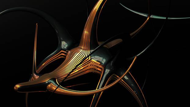 Alien Angelfish in The Dark