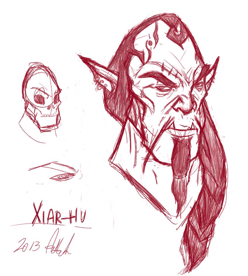 Xiarhu-sketch by Vahki530