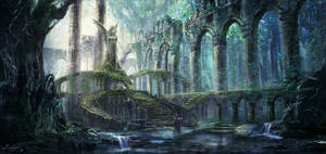 Ruins in the forest by Evelynlife