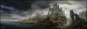 Fantasy castle environment by Evelynlife