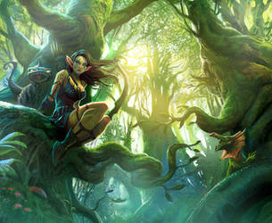 Forest elf by MiguelCoimbra