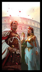 Caesar and cleopatra by MiguelCoimbra