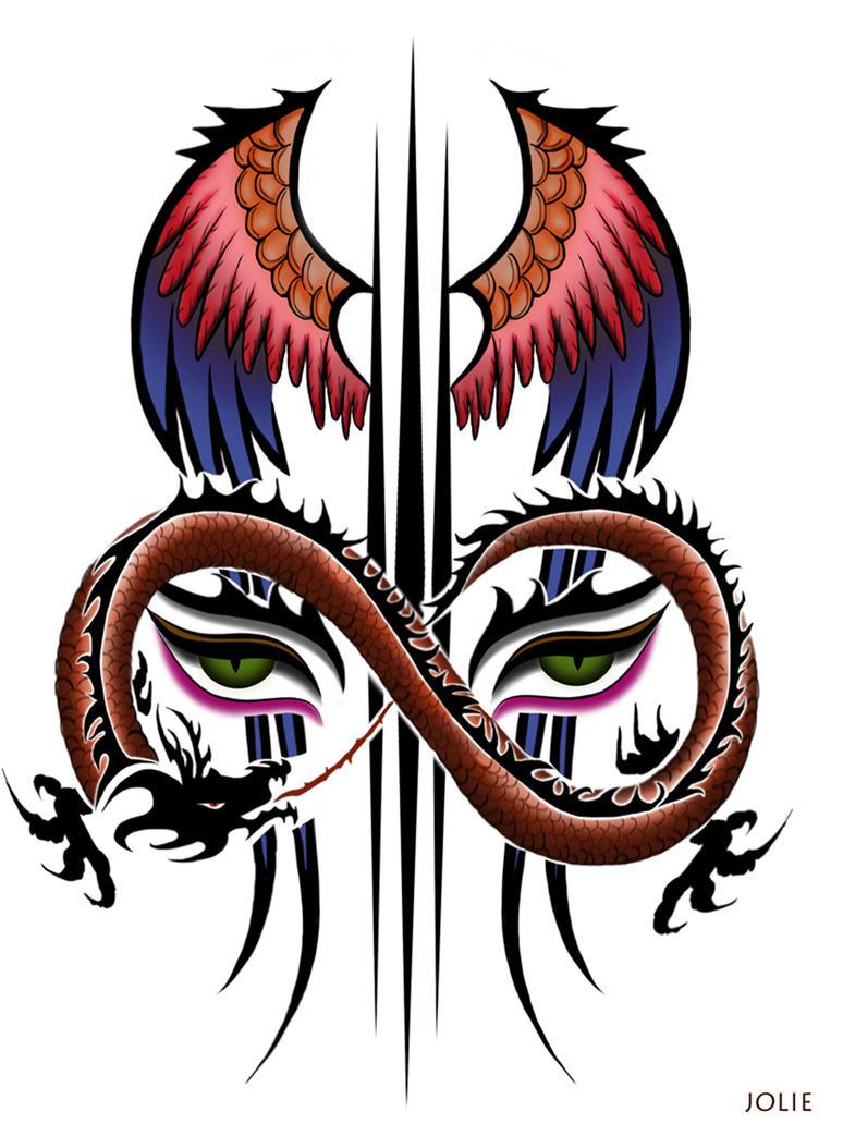multicolored tattoo by JOLONO