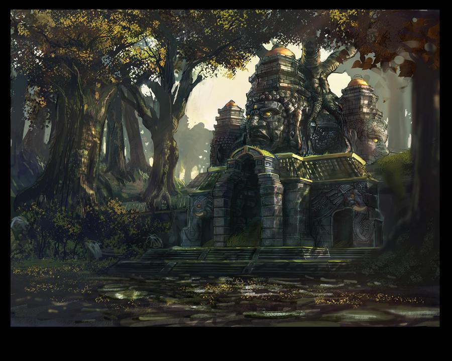 temple ruin by jianlu