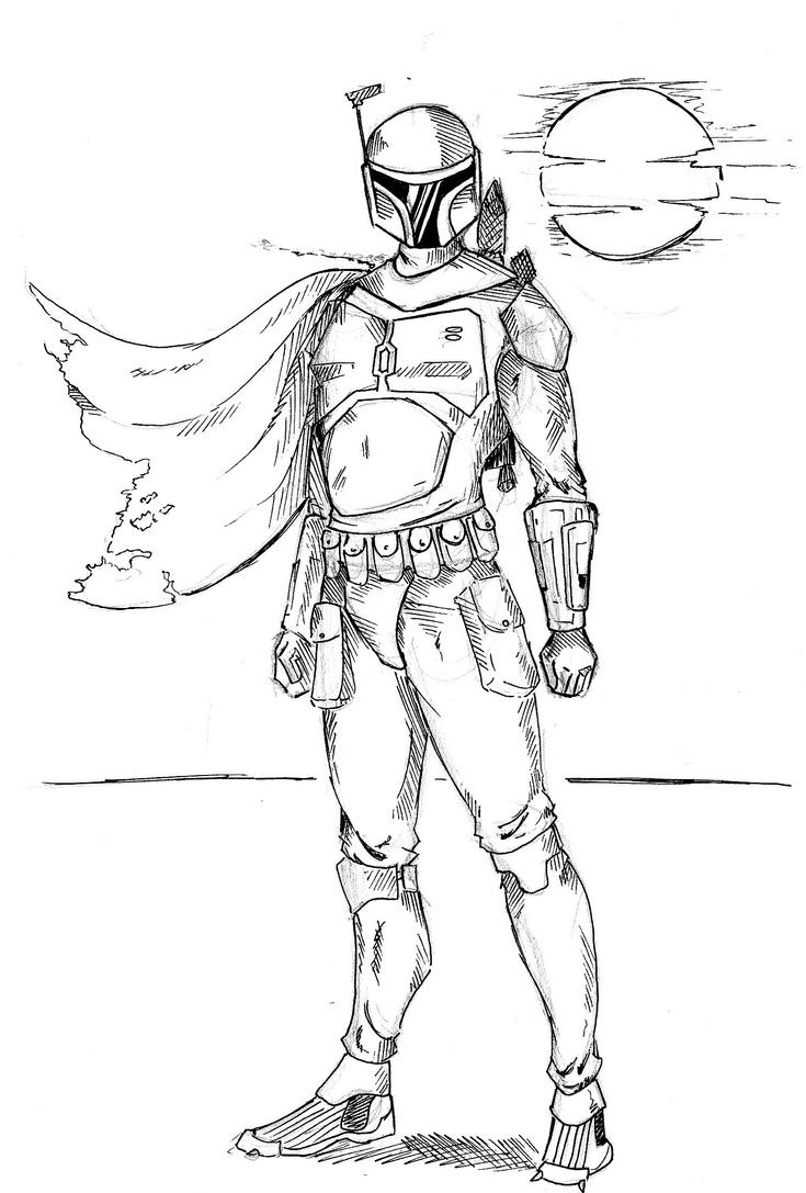 Lego jango fett coloring coloring pages for Jango fett coloring pages