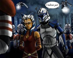 the clone wars season 5 final by SH-Illustration