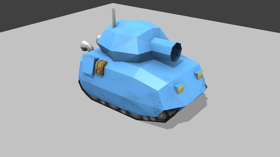 my_little_lowpoly_blue_tank_by_scheb-d63