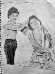 Bruce Lee  Jackie Chan by vickeey08
