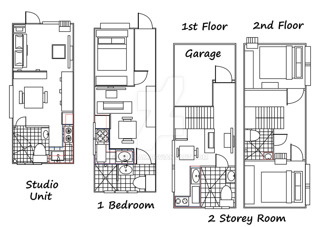 Apartment unit floor plan 2 by asiabam on deviantart for Apartment building plans 2 units