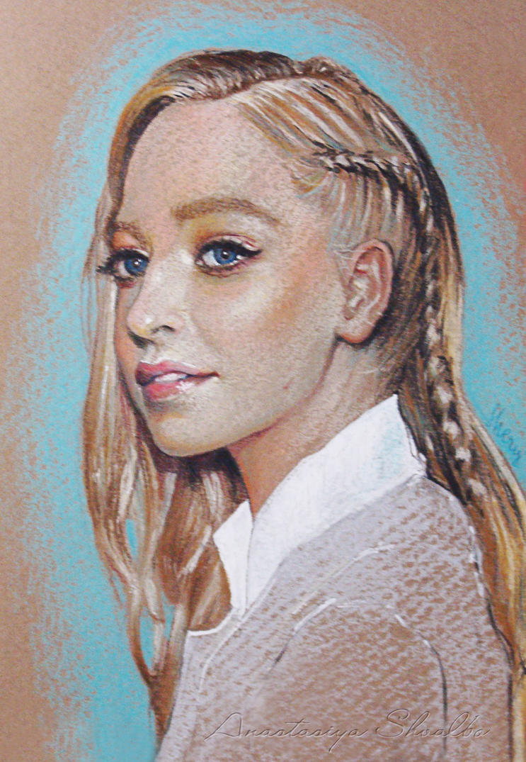 Portia Doubleday - Pastel Portrait by shvau4