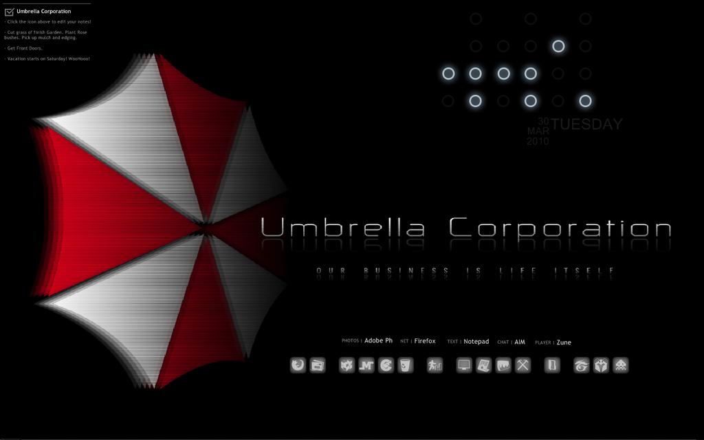 Umbrella Desktop Rainmeter by TagsMagilicuty