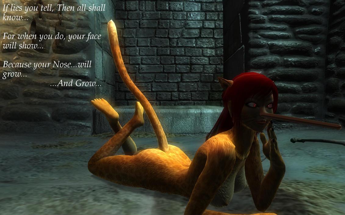 Khajiit Pinocchio Curse by nexus-9