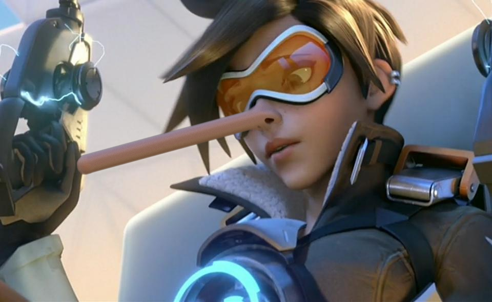 Tracer Overwatch Nose Morph by nexus-9