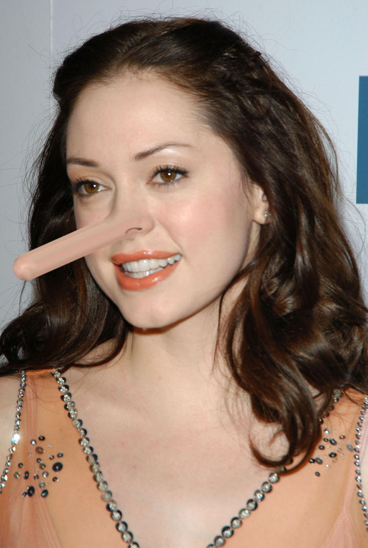 Rose McGowan nose morph request. by nexus-9