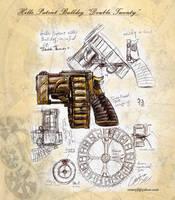 Hills Bulldog Steampunk Gun by deepskyphoenix