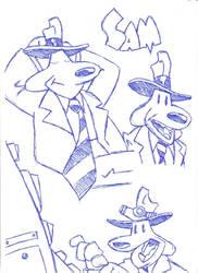 Sam Cartoon Sketches by rubygloommel