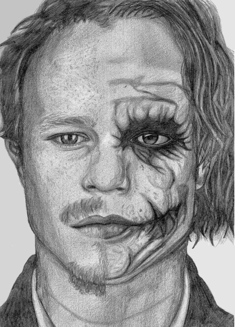 Heath Ledger as The Joker by rubygloommel