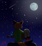 I'm lying on the moon, my dear
