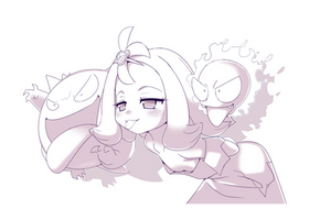 Inktober Day 1 / 31 - Acerola Used Lick! by MaidForge