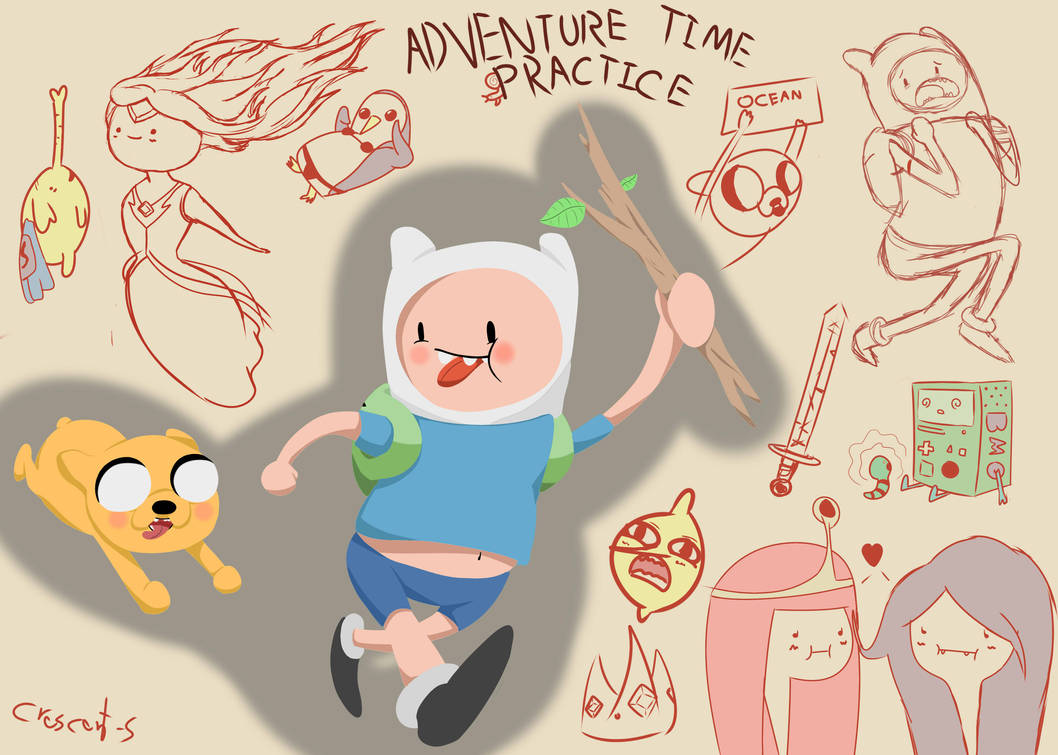 Adventure time practice and stuff