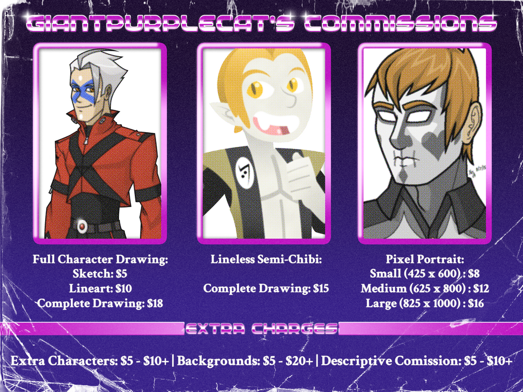 GPC Commission Sheet by GiantPurpleCat