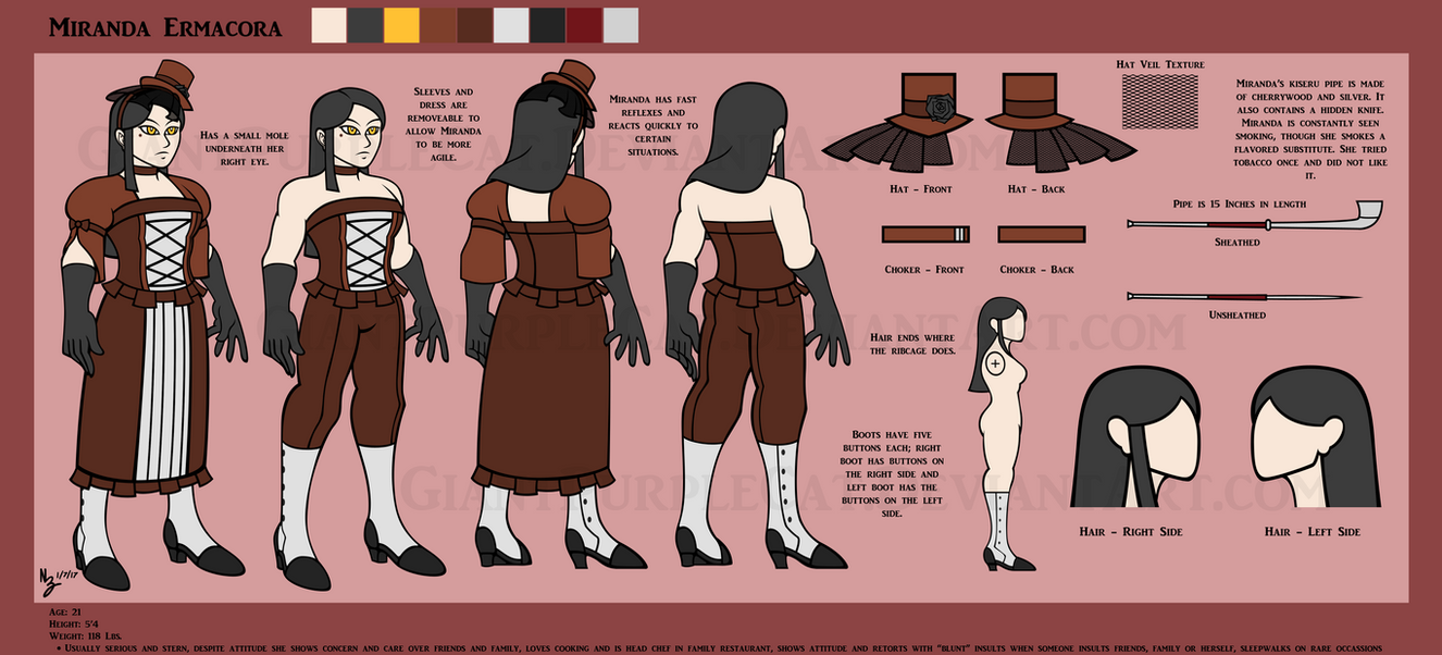 SL: Miranda Reference Sheet by GiantPurpleCat