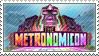 The Metronomicon: Slay the Dance Floor Stamp by GiantPurpleCat