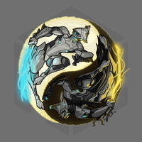 Light and Darkness V2 by GiantPurpleCat