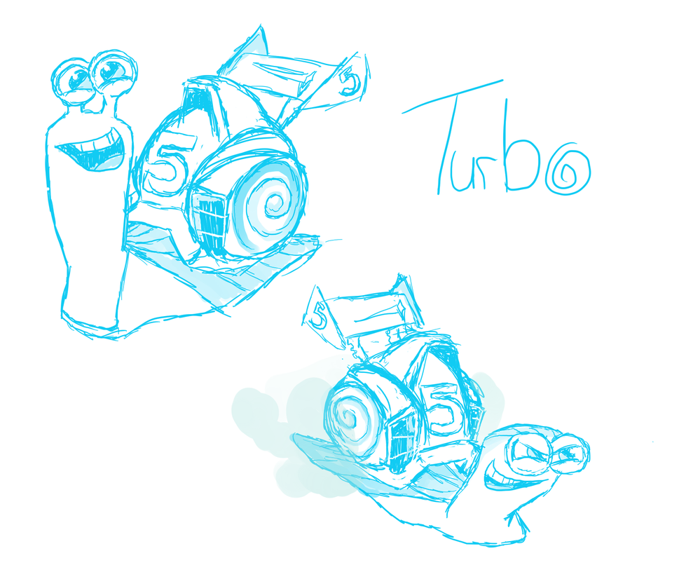 Turbo Sketches by HearttheWolf