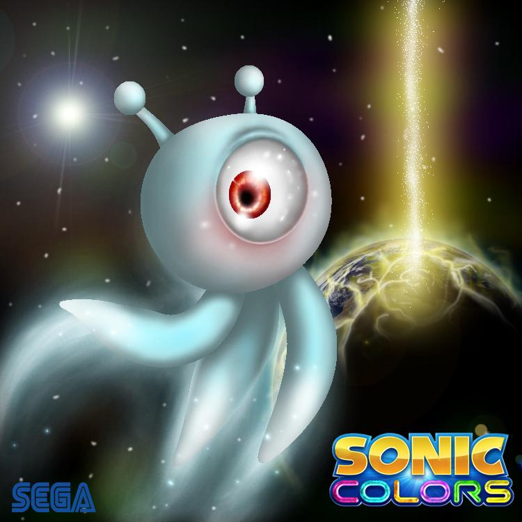 Wisp- Sonic Colors Fan Art by chazolave