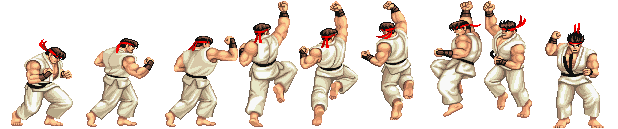 Street Fighter 2 - Ryu (But Unused 3 More Frames)