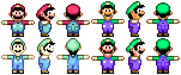 Super Mario World Model Sheets Free To Use By