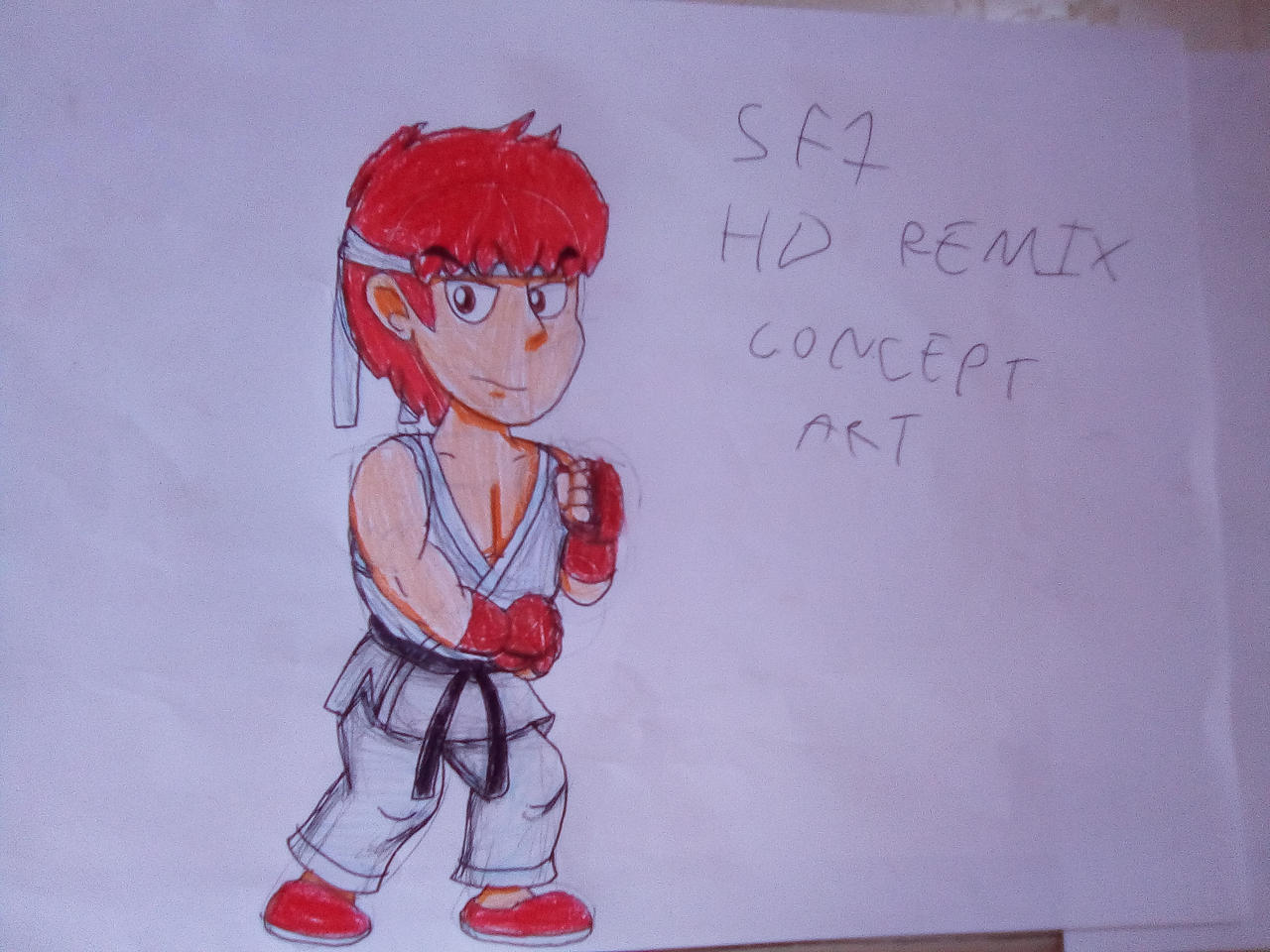 Street Fighter 1987 HD Remix - Ryu Concept Art