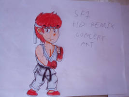 Street Fighter 1987 HD Remix - Ryu Concept Art by xxxJohnnieWalker2005